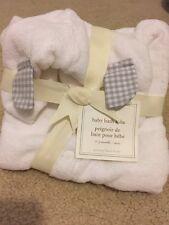 Pottery Barn Kids Gray Gingham Baby Bath Robe 0-9m New