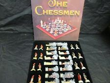 The Chessmen Painted Pieces Egyptian Vs. Roman  NIB  2001  NEW - No Board