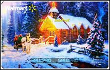 WALMART CHRISTMAS CHARIOT COUNTRY LODGE FOIL #VL11508 COLLECTIBLE GIFT CARD