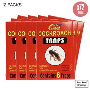 Lot de 72 Pieges à Cafard, blattes Colle glue professionnel neuf.