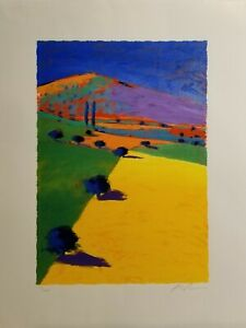 SLIGHTLY DAMAGED SALE!  PAUL POWIS Limited Edition Serigraph, The Hill, SIGNED