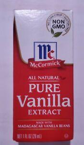 McCormick Pure Vanilla Extract All Natural Madagascar vanilla beans