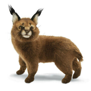 Caracal Cat Standing Hansa Realistic Soft Animal Plush Toy 28cm H**FREE DELIVERY