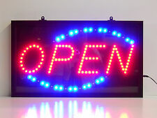 Open sign Led sign Horizontal Motion Bar Huge Window neon Very Bright lamp light