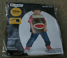 Sock Monkey New In Package Size M (3T-4T) Boy Girl Toddler Costume