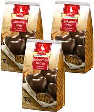 Weiss 3x 150g Lebkuchen Herzen mit 23% Zartbitterschokolade überzogen 450g