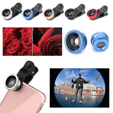 3 in 1 180° Fish Eye Wide Angle Macro Camera Clip-on Lens for Cell Mobile Phone