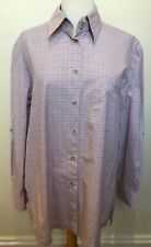 R.M WILLIAMS Womens Check Long Sleeve Regular Fit Button Front Cotton Shirt 12