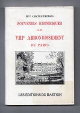 Souvenirs Historiques du VIIIe Arrondissement de Paris - Mlle Chateauminois