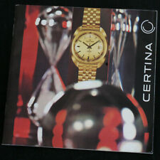 Original Certina DS-2 PH1000M Chronolympic Katalog Brochure Prospekt 1972