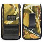 Vertical Heavy Duty Rugged Belt Clip Camou Pouch Holster 6.34 x 3.15 x 0.3 inch