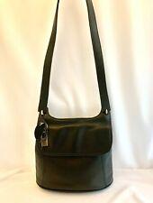 Rolfs Black Genuine Leather Purse Handbag Crossbody Strap Medium Bag