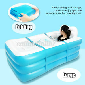 Portable Inflatable Bath Tub Adult SPA Warm Bathtub Blow Up Travel Pool Foldable