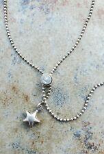 Vintage Sterling Silver Adjustable Star Beaded Bracelet