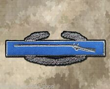 "BLUE COMBAT INFANTRYMAN BADGE 4/"" x 1.5/"" iron on patch F26 Military 4244"