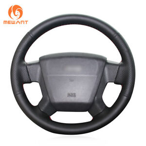 DIY Black Leather Steering Wheel Cover for Jeep Compass Grand Cherokee Wrangler
