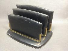 Ancien range papier bureau trieur de lettres vintage simili cuir french antique