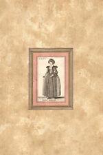 MULIER BASILIENSIS- Costume - HOLLAR WENZEL - Incisione Originale 1649