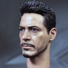 1/6 Scale Iron Man Head Sculpt Tony Head Model F 12'' Action Figure Normal Ver.