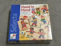 Hand in Hand - Legespiel Gesellschaftsspiel - Neu & Ovp Selecta Spielzeug Holz