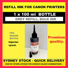 100 ml GREY refill, bulk INK for Canon. CLI-671GY, CLI-651GY, CLI-521GY, etc.
