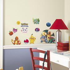 POKEMON ICONIC 24 BiG Wall Decals Room Decor Pikachu Charizard Snorla Stickers