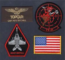 Captain PETE MAVERICK MITCHELL TOP GUN MOVIE 2 VX-31 US NAVY Squadron Patch Set