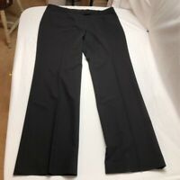 Tommy Hilfiger Womens Dress Career Pants Black Stretch Flat Front Pockets 12