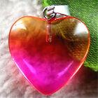 D01839 20x6mm Beautiful heart Multi-color Rock Crystal pendant bead