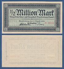 Brandeburgo (Havel) 1/2 milione di Mark 1923 casse freschi/UNC