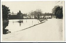 Unidentified Village Scene, Early 20th c RP PC Unposted, Shows Pub & Duckpond