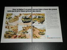 PRINT AD - PUBLICIDAD ANUNCIO PUBLICITE PUB - SIMCA RALLYE 2 1975 FRENCH 3119