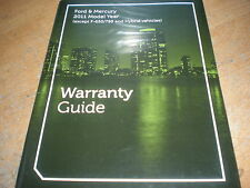 2011 FORD MUSTANG SHELBY EXPLORER ESCAPE F150 WARRANTY OWNERS MANUAL SUPPLEM