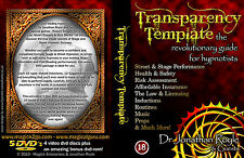 The Transparency Template Jonathan Royle Stage Hypnosis Street Hypnotism Magic