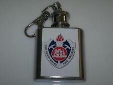 NSW Fire Brigade Hip Flask 1oz key ring Barware