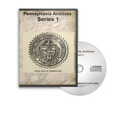 Pennsylvania Archives Series 1 Complete - All 12 Volumes CD (1644 - 1790+) B415