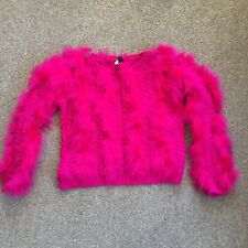 Pink Feather Topshop Jumper Size 8 Fluffy