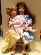 WILLIAM TUN~`HARRIET & HEATHER 2 DOLL SET, MOM with DAUGHTER & FREE CHRISTMAS CD