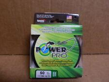 Power Pro Spectra Braid Fishing Line 50 lb Test 150 Yards Moss Green 50lb