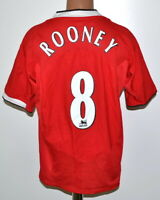 MANCHESTER UNITED 2004/2005/2006 HOME FOOTBALL SHIRT NIKE #8 ROONEY SIZE L ADULT