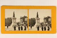 Francia Clermont-Ferrand Soprammobile Desaix Foto Stereo Vintage Analogica c1900