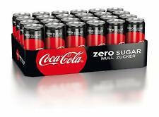 Coca-Cola Coke Zero in Dosen(24x330 ml) inklusiv 6€ Pfand,