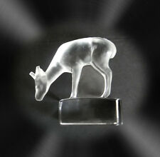 Lalique France art glass deer figurine paperweight  - FREE SHIPPING