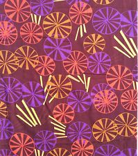 Retro Fine Cotton Voile? Sewing Dress Fabric Geometric PurpleYellow Red Burgundy