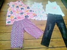 MIXED BUNDLE GIRLS CLOTHING AGE 9-10 5 ITEMS JEANS, DRESSES, TOP, PJ BOTTOMS