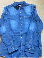 NEXT Boys Blue Denim Shirt 14 Years 164cm