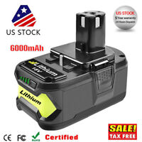 6.0Ah 18 VOLT P108 for 18V RYOBI ONE PLUS Lithium-Ion High Capacity Battery NEW