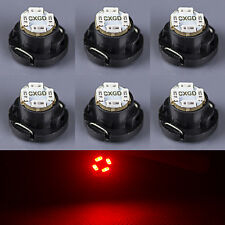 6 x Red T5/T4.7 Neo Wedge LED Bulb SMD Cluster Instrument Dash Base Lights 12V