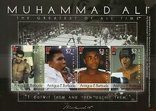 Antigua & Barbuda 2008 MNH Muhammad Ali Greatest 4v M/S II Boxing Sports Stamps