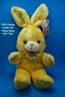 Vintage 1990 Cuddle Wit Yellow JELLY BEAN Bunny Rabbit Stuffed Animal with TAGS